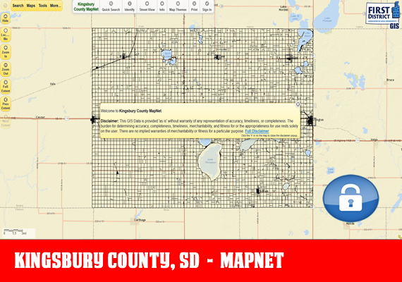 Kingsbury MapNet - The official mapping application for Kingsbury County, SD